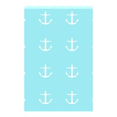 Aqua Anchor Shower Curtain 48  X 72  (small)  by snowwhitegirl