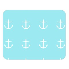 Aqua Anchor Double Sided Flano Blanket (large)  by snowwhitegirl