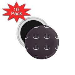 Grey Anchors 1 75  Magnets (10 Pack)  by snowwhitegirl