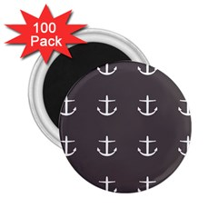 Grey Anchors 2 25  Magnets (100 Pack)  by snowwhitegirl