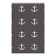 Grey Anchors Shower Curtain 48  X 72  (small)  by snowwhitegirl