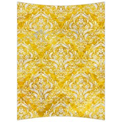 Damask1 White Marble & Yellow Marble Back Support Cushion by trendistuff