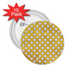 Circles3 White Marble & Yellow Marble (r) 2 25  Buttons (10 Pack)  by trendistuff
