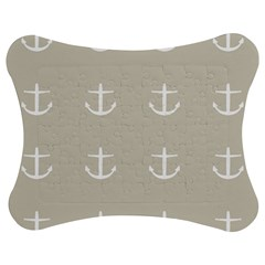 Lt Grey Anchors Jigsaw Puzzle Photo Stand (bow) by snowwhitegirl
