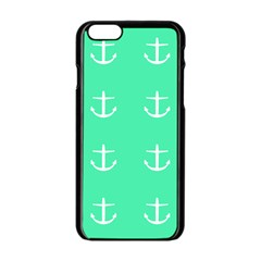 Seafoam Anchors Apple Iphone 6/6s Black Enamel Case by snowwhitegirl