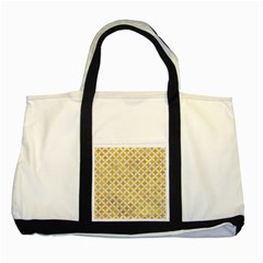 Circles3 White Marble & Yellow Marble Two Tone Tote Bag by trendistuff