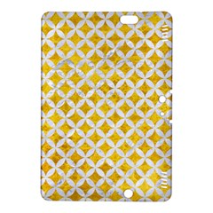 Circles3 White Marble & Yellow Marble Kindle Fire Hdx 8 9  Hardshell Case by trendistuff