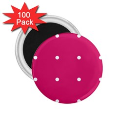 Small Pink Dot 2 25  Magnets (100 Pack)  by snowwhitegirl