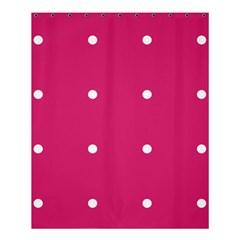Small Pink Dot Shower Curtain 60  X 72  (medium)  by snowwhitegirl