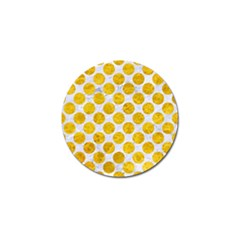 Circles2 White Marble & Yellow Marble (r) Golf Ball Marker by trendistuff