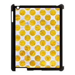 Circles2 White Marble & Yellow Marble (r) Apple Ipad 3/4 Case (black) by trendistuff
