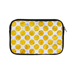 Circles2 White Marble & Yellow Marble (r) Apple Macbook Pro 13  Zipper Case by trendistuff