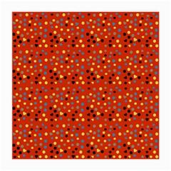 Red Retro Dots Medium Glasses Cloth (2 Side) by snowwhitegirl