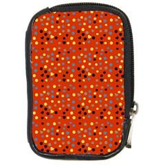 Red Retro Dots Compact Camera Cases by snowwhitegirl