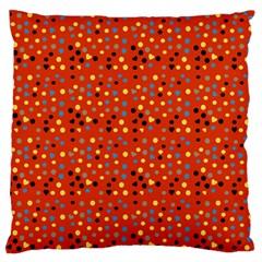 Red Retro Dots Large Flano Cushion Case (one Side) by snowwhitegirl
