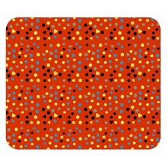 Red Retro Dots Double Sided Flano Blanket (small)  by snowwhitegirl