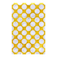 Circles2 White Marble & Yellow Marble Shower Curtain 48  X 72  (small)  by trendistuff