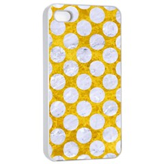Circles2 White Marble & Yellow Marble Apple Iphone 4/4s Seamless Case (white) by trendistuff