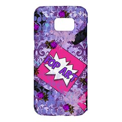 Purple Retro Pop Samsung Galaxy S7 Edge Hardshell Case