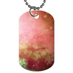 Galaxy Red Dog Tag (two Sides) by snowwhitegirl