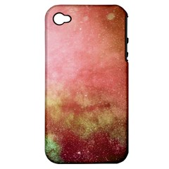 Galaxy Red Apple Iphone 4/4s Hardshell Case (pc+silicone) by snowwhitegirl
