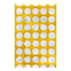 Circles1 White Marble & Yellow Marble Shower Curtain 48  X 72  (small)  by trendistuff