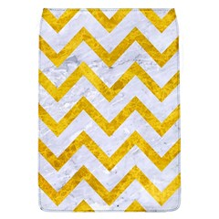 Chevron9 White Marble & Yellow Marble (r) Flap Covers (l)  by trendistuff