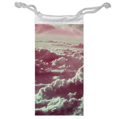In The Clouds Pink Jewelry Bag by snowwhitegirl