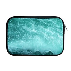 Green Ocean Splash Apple Macbook Pro 17  Zipper Case by snowwhitegirl