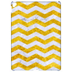 Chevron3 White Marble & Yellow Marble Apple Ipad Pro 12 9   Hardshell Case by trendistuff