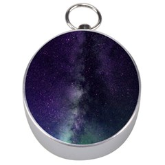 Galaxy Sky Purple Silver Compasses by snowwhitegirl