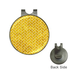 Brick2 White Marble & Yellow Marble Hat Clips With Golf Markers by trendistuff