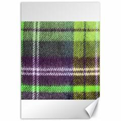 Neon Green Plaid Flannel Canvas 20  X 30   by snowwhitegirl