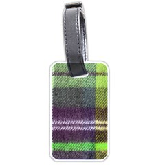Neon Green Plaid Flannel Luggage Tags (two Sides) by snowwhitegirl