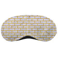 Brick1 White Marble & Yellow Marble (r) Sleeping Masks by trendistuff