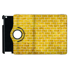 Brick1 White Marble & Yellow Marble Apple Ipad 3/4 Flip 360 Case by trendistuff