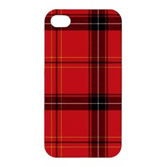 Red Plaid Apple Iphone 4/4s Premium Hardshell Case by snowwhitegirl