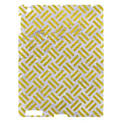 Woven2 White Marble & Yellow Leather (r) Apple Ipad 3/4 Hardshell Case by trendistuff