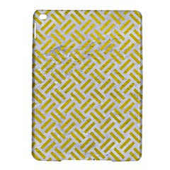 Woven2 White Marble & Yellow Leather (r) Ipad Air 2 Hardshell Cases by trendistuff