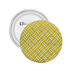 Woven2 White Marble & Yellow Leather 2 25  Buttons by trendistuff
