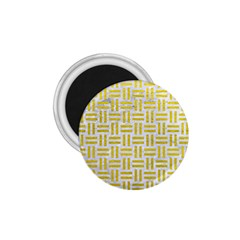 Woven1 White Marble & Yellow Leather (r) 1 75  Magnets by trendistuff