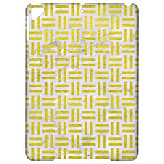 Woven1 White Marble & Yellow Leather (r) Apple Ipad Pro 9 7   Hardshell Case by trendistuff