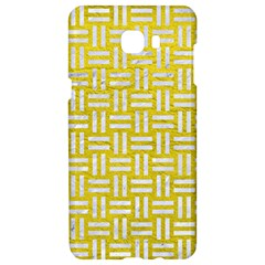 Woven1 White Marble & Yellow Leather Samsung C9 Pro Hardshell Case  by trendistuff