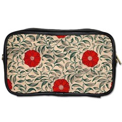 Japanese Floral Red Toiletries Bags by snowwhitegirl