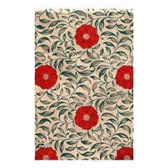 Japanese Floral Red Shower Curtain 48  X 72  (small)  by snowwhitegirl