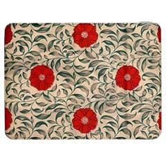 Japanese Floral Red Samsung Galaxy Tab 7  P1000 Flip Case by snowwhitegirl