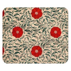 Japanese Floral Red Double Sided Flano Blanket (small)  by snowwhitegirl