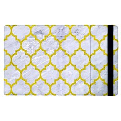 Tile1 White Marble & Yellow Leather (r) Apple Ipad Pro 9 7   Flip Case by trendistuff