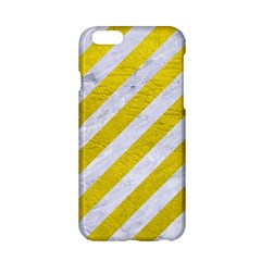 Stripes3 White Marble & Yellow Leather (r)stripes3 White Marble & Yellow Leather (r) Apple Iphone 6/6s Hardshell Case by trendistuff
