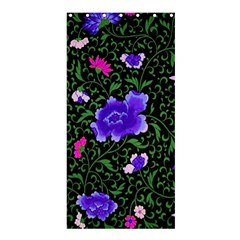 Blue  Japan Floral Shower Curtain 36  X 72  (stall)  by snowwhitegirl